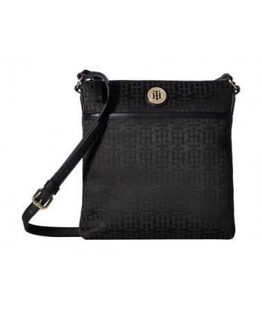 Tommy Hilfiger Alena North/South Crossbody Monogram Jacquard