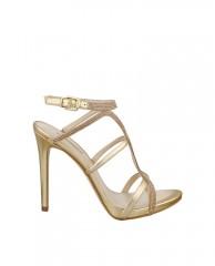 Adalee Metallic Strappy Heels