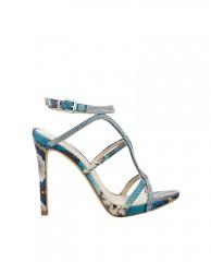 Adalee Python-Print Strappy Heels