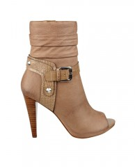 Cassay Peep-Toe Scrunch Booties