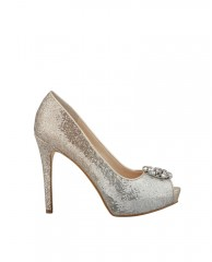 Hot Spot Glitter Pumps