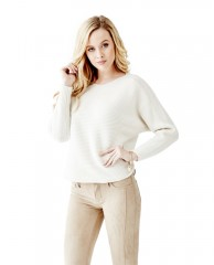 Long Sleeve Boat-Neck Sweater