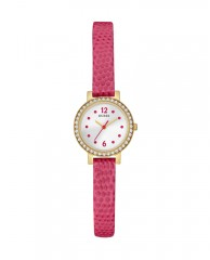 Pink and Gold-Tone Colorful Petite Watch