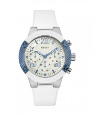 Blue and White Multifunction Sport Watch