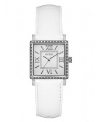 WHITE AND SILVER-TONE TIMELESS STYLE WATCH