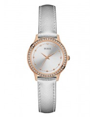 SILVER AND ROSE GOLD-TONE GLAM WATCH