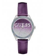 PURPLE AND SILVER-TONE ICONIC SPARKLE WATCH