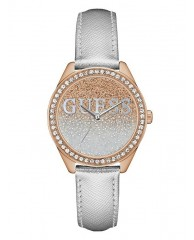 SILVER AND ROSE GOLD-TONE ICONIC SPARKLE WATCH