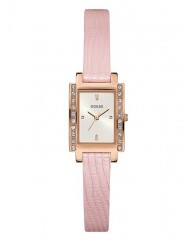 PINK AND ROSE GOLD-TONE PETITE RECTANGLE WATCH