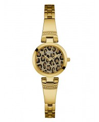 GOLD-TONE ANIMAL-PRINT PETITE WATCH