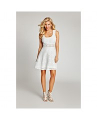 Alameda Sleeveless Lace Dress with Back Cutout