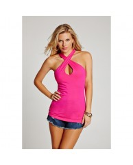 Sleeveless Halter Top with Keyhole