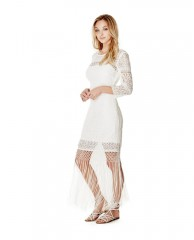 Clark Three-Quarter Sleeve Lace Dress