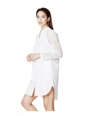 Elise Eyelet Shirtdress