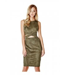 Jelena Sleeveless Faux-Suede Dress