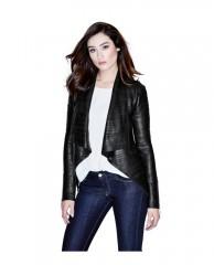 Shayna Drape Leather Jacket