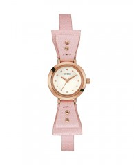 Pink and Rose Gold-Tone Petite Bow Watch