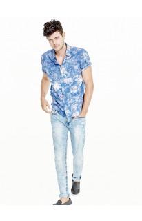 Washed Floral Slim-Fit Shirt